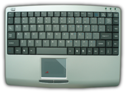 Adesso AKB410US or AKB410PS SlimTouch Mini Keyboard with Built-In Touchpad