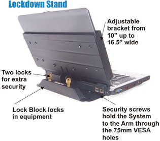 AnchorPad 31177 ARM Lockdown Arm Mount on Wall and Desk