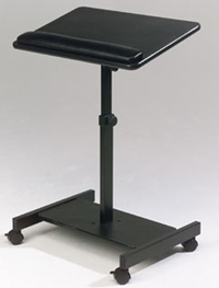 Balt 43062 Scamp Laptop Stand - Ergonomic, fully adjustable speaker stand that adjusts to the right height every time. Adjusts from 27