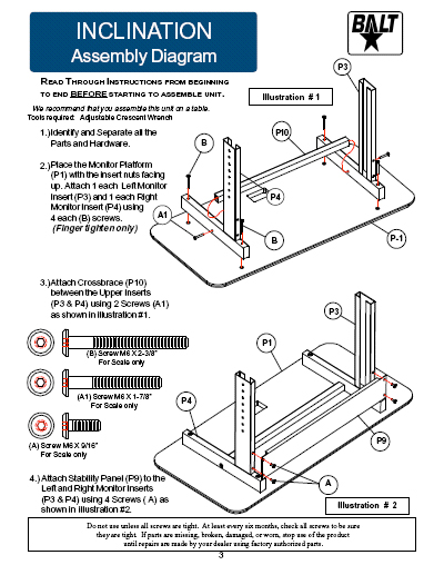 Detailed installation Instruction for Balt Tilting keyboard platform