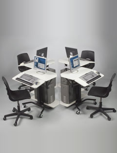 Balt 89782 Tilting keyboard platform. Tilt up or down for ergonomic comfort. Ergonomic keyboard platform adjusts in height and tilts up or down 15 degree for maximum comfort.