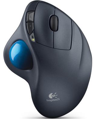 Logitech 910-001799 Wireless Comfortable Stable Sculpted Trackball Mouse