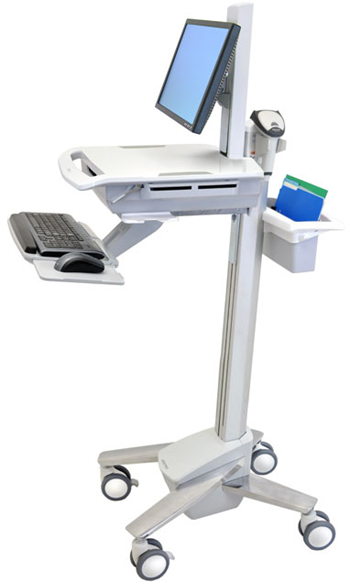 Ergotron SV41-41021 StyleView EMR LCD Monitor Pivot Computer Cart for Mobile Medical Applications