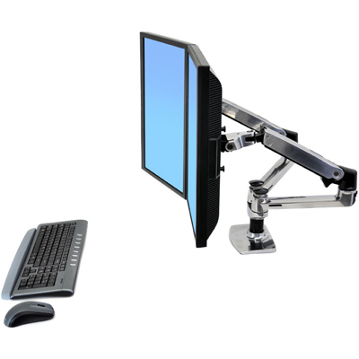 Ergotron 45 245 026 LX Dual Side By Side Arm. Highlights. Desk Mounting  Dual Monitor ...
