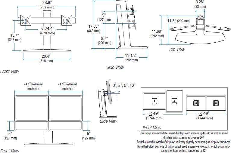 Ergotron 33 396 085 Neo Flex Dual Lcd Lift Stand