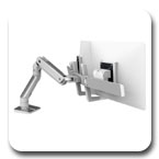 Ergotron 45-476-026 HX Desk Mount Dual Monitor Arm (polished aluminum)