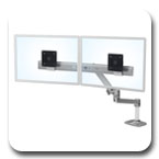 Ergotron 45-489-026 LX Desk Mount Dual Direct Arm (polished aluminum)