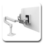 Ergotron 45-489-216 LX Desk Mount Dual Direct Arm (white)