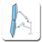 Ergotron 45-492-216 LX Dual Monitor Arm, Stacking