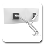 Ergotron 45-496-216 MXV Desk Mount Dual LCD Monitor Arm (white)