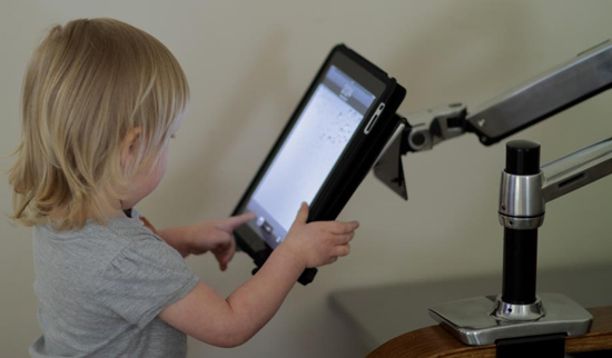 Inused image of Ergotron 80-106-085 Universal Tablet Cradle