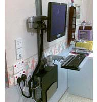 Application of Ergotron 45-238-195 LX Wall Mount System