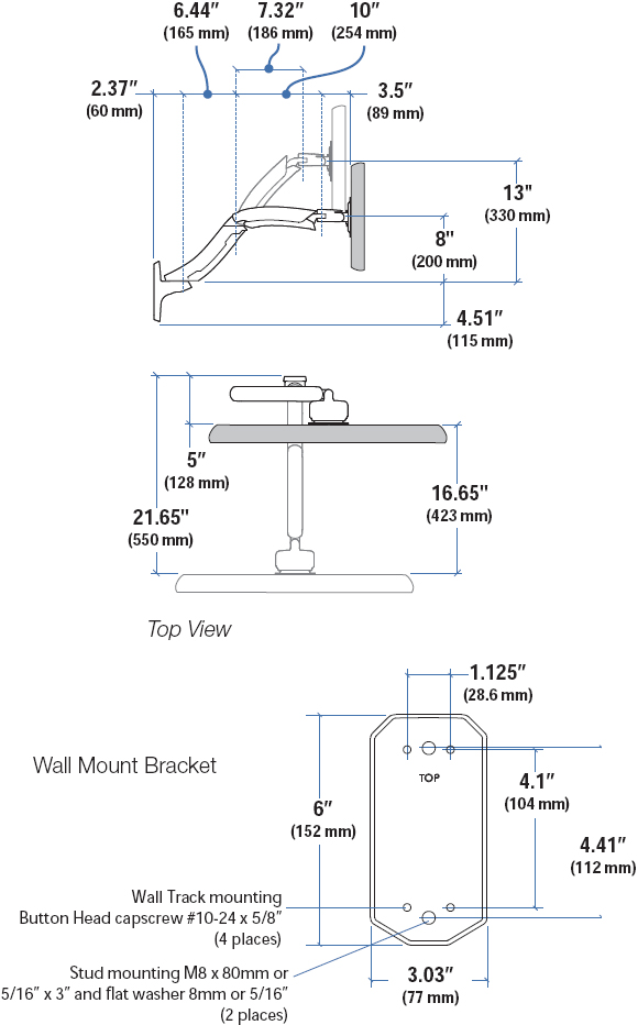 Wall Mount Monitor Arm Ergotron 45