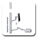 Ergotron 45-551-216 LX Wall Mount System without CPU Holder (white)