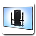 Ergotron 61-128-085 Glide Height Adjustable VHD TV Wall Mount