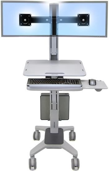 Ergotron 24 196 055 Workfit C Mod Sit Stand Workstation