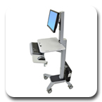 Ergotron 24-198-055 WorkFit C-Mod Sit-Stand Workstation for Single LCD Monitor
