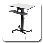 Ergotron 24-280-926 WorkFit-PD, Sit-Stand Desk (light grey)