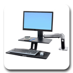 Ergotron 24-391-026 WorkFit-A HD Monitor Stand Up Desk Workstation