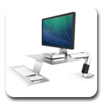 Ergotron 24-422-227 WorkFit-A Workstation, VESA Mount
