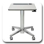 Ergotron 24-547-003 LearnFit Sit-Stand Student Desk - Shorter Worksurface Height