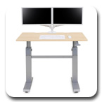"Ergotron 24-567-F13 WorkFit-DL 48"", Sit-Stand Desk (Maple)"