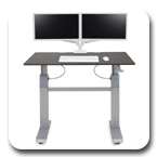 "Ergotron 24-567-F59 WorkFit-DL 48"" Height Adjustable Desk (Wenge)"