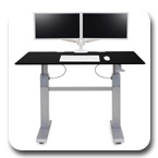 Ergotron 24-568-F03 WorkFit-DL 60, Sit-Stand Desk (Black)