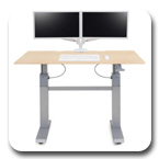 "Ergotron 24-568-F13 WorkFit-DL 60"" Height Adjustable Desk (Maple)"
