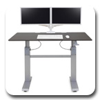 Ergotron 24-568-F59 WorkFit-DL 60, Sit-Stand Desk (Wenge)