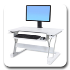 Sit-Stand Ergotron 33-397-062 WorkFit-T Desktop Workstation in White
