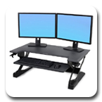 Ergotron 33-406-085 WorkFit-TL Desktop Sit-Stand Workstation in Black
