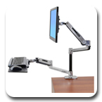 Ergotron 45-405-026 WorkFit-LX Sit-Stand Desk Mount System
