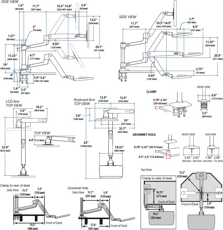 Workfit Lx Ergotron 45 405 026 Sit Stand Desk Mount System