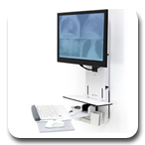 Ergotron 61-080-062 StyleView Sit-Stand Vertical Lift, Patient Room