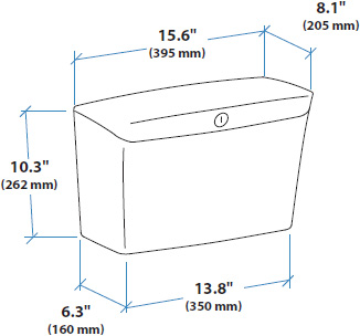 Technical Drawing for Ergotron 97-740 StyleView Storage Bin