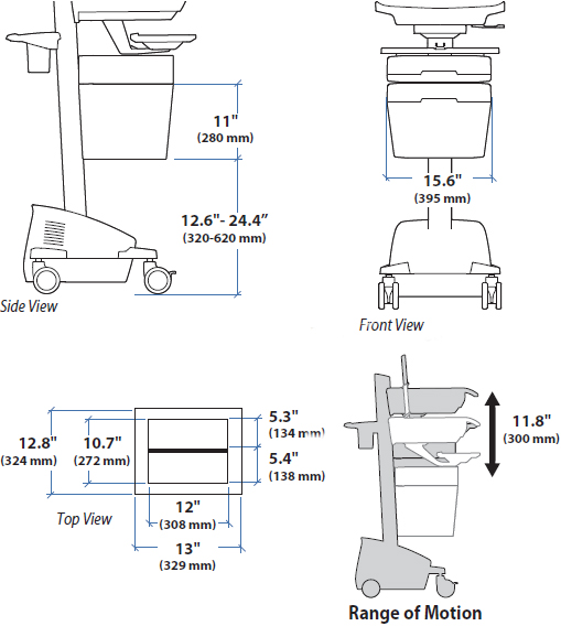 Technical Drawing for Ergotron 97-853 SV43/44 Envelope Drawer