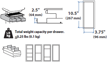Technical Drawing for Ergotron 97-867 SV44 Primary Triple Drawer for LCD Cart