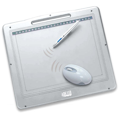 Adesso 12000 Cyber Graphics Tablet with Ergonomic Mouse and Drawing Pen