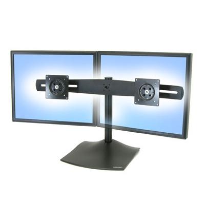 Ergotron 33-322-200 DS100 Dual-Monitor Desk Stand, Horizontal