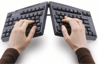 Goldtouch GTU0077 Adjustable Split Ergonomic Keyboard with hand