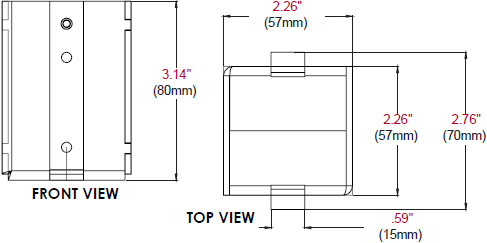 Technical drawing for  Peerless MOD-ADF Pole Drill Fixture for Modular Projector Mounts