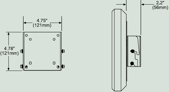 Dimensional Diagram for Peerless PT630 Paramount Tilt Wall Mount PT-630