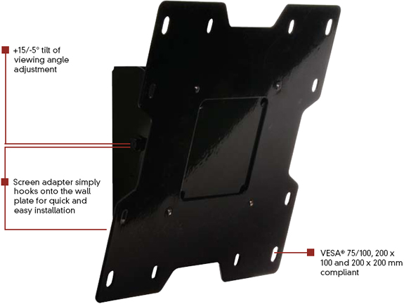 Peerless PT632 Paramount Tilt Wall Mount for 10 to 37 inch LCD Screen
