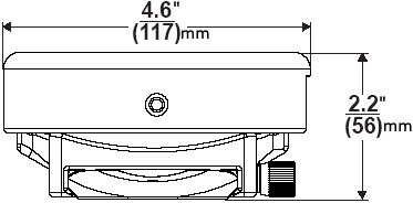 Technical Drawing of Peerless PRS-1 PRS Projector Ceiling Mount
