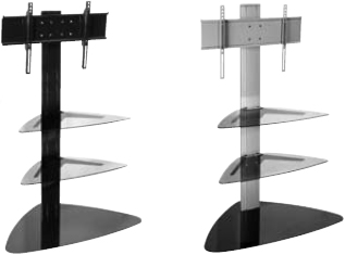 Peerless SS550P SmartMount Flat Panel TV Stand with two Shelves SS550P-S
