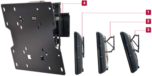 Peerless SUT632P Universal Ultra-thin Tilt Wall Mount for 22 to 40 inch Screens