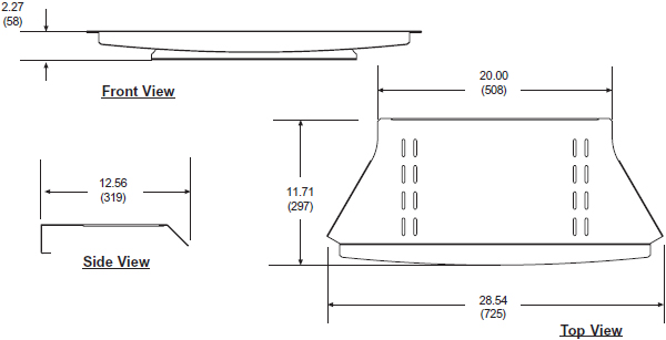 Technical drawing for  Peerless ACC315 Equipment Base Shelf for Flat Panel Carts and Stands