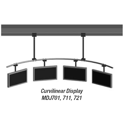 Peerless MDJ701 Flat Panel Curvilinear 120 inch Ceiling Mount