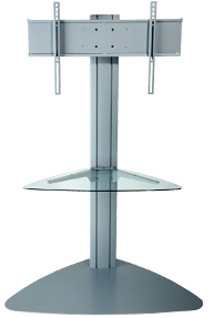 Peerless SGLS01 SmartMount Flat Panel TV Stand with one Shelf Silver
